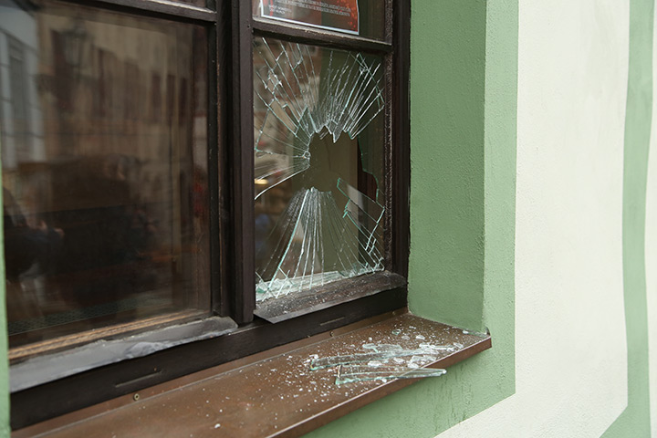 A2B Glass are able to board up broken windows while they are being repaired in Finchley.